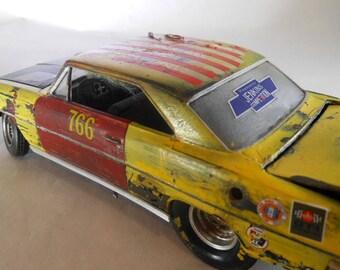 Scale Model Car,Chevy Nova,Junker Model,Rusted Wreck,Classicwrecks