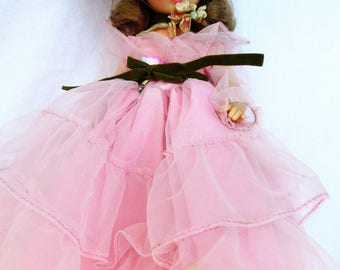 Vintage Southern Belle Horsman Doll, Pink Tulle Dress Hoop Skirt, RARE Collectible Doll Marked T13F