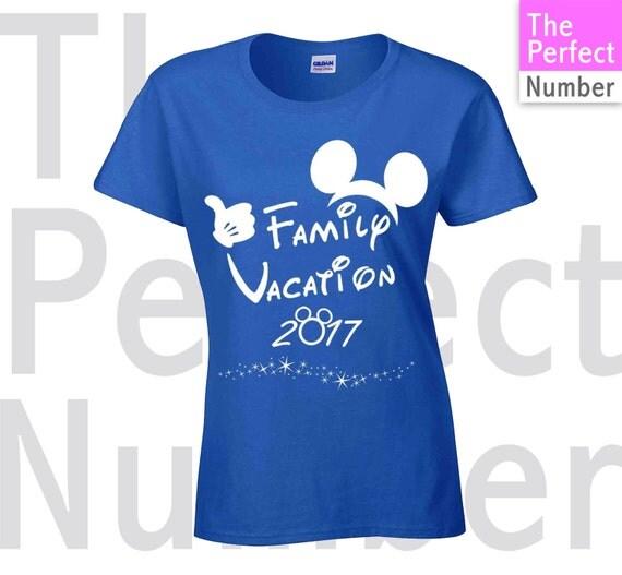 Disney Family Vacation 2017 Matching T Shirt Ladies Missy