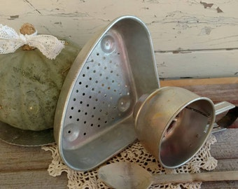Mid Century Metal Kitchen Tools - Vintage Collection of Cooking Accessories, Retro Kitchen Cooking + Cleaning Tools, Aluminum Kitchen Wares