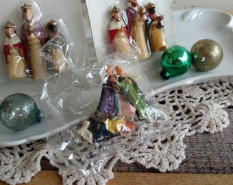 Kitsch Retro Christmas Nativity Ornament Set - Vintage Holiday Tree Decor, Hanging  Ornaments, Hong Kong, Shelf Sitter, Package Toppers