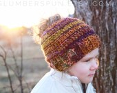 Pony Tail Hat,Bun Hat, Hat, Beanie, Pony Tail Beanie, Multi Color, Handmade, MADE TO ORDER