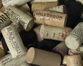 100 used wine corks mixture of natural and synthetic