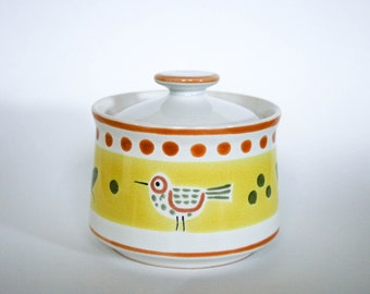 Stonecrest, Hand Painted Sugar Bowl with Lid, Made in Korea