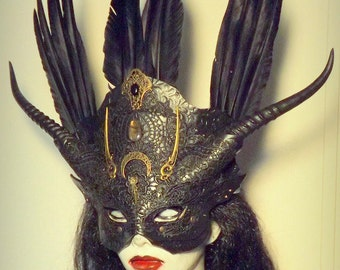 Womans  Gothic Venetian mask