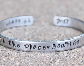 Oh, the Places You'll Go, Gift for Graduate, Class of 2017, Oh the Places You'll Go Graduation, Graduate, Class of 2017 Jewelry, Graduation