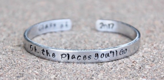 Oh, the Places You'll Go, Gift for Graduate, Class of 2018, Oh the Places You'll Go Graduation, Graduate, Class of 2017 Jewelry, Graduation