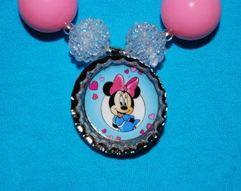 Girls Chunky Minnie Mouse Necklace