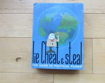 Lie Cheat and Steal 1971 Board Game