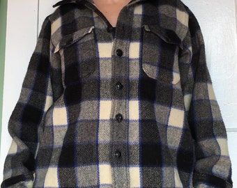 Vintage Woolrich Plaid Wool Shirt or Jacket late 50s early 60s