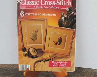 Classic Cross Stitch Needle Arts Collection Magazine August September 1990