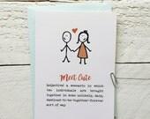 Happy Valentines - Meet Cute - Greeting Card - 4x6