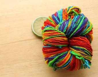 All Rainbows - Yarn Handspun Superwash Merino Wool Sport
