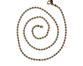 Miriam Haskell Gold Rhinestone Necklace