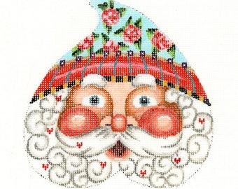 Needlepoint Santa Heart