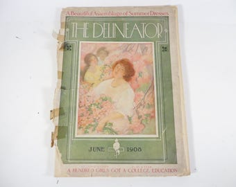 The Delineator June 1908 Magazine - Antique The Delineator Magazine
