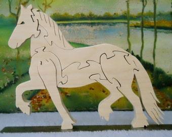 Wooden Frisian Horse Puzzle