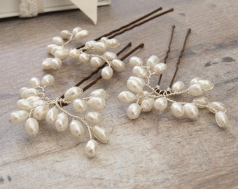 Bud Mini Pearl Bridal Hair Pins