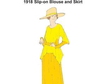 RH1205 — 1918 Blouse and Skirt