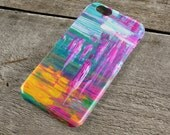 The Workers iPhone Case  Pink Green Yellow and White Abstract Art iPhone Case for iP4 iP5SSE iP5C iP6S iP6S iPod Touch 5