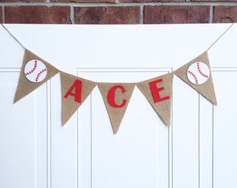 Baseball Name Banner - Baseball Kids Gift - Personalized Christmas Gift - Baseball Banner - Baseball Party Decor - Baseball Baby Shower