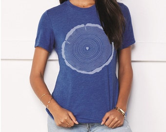 Tree Trunk, Womens Shirt, Modern Womens Apparel, Nature Lover, Color options