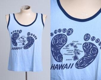 70s Hawaiian Footprints Surf Tank