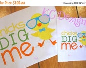 50% OFF SALE Chicks Dig Me Easter Machine Embroidery Design - 4x4, 5x7 & 6x8