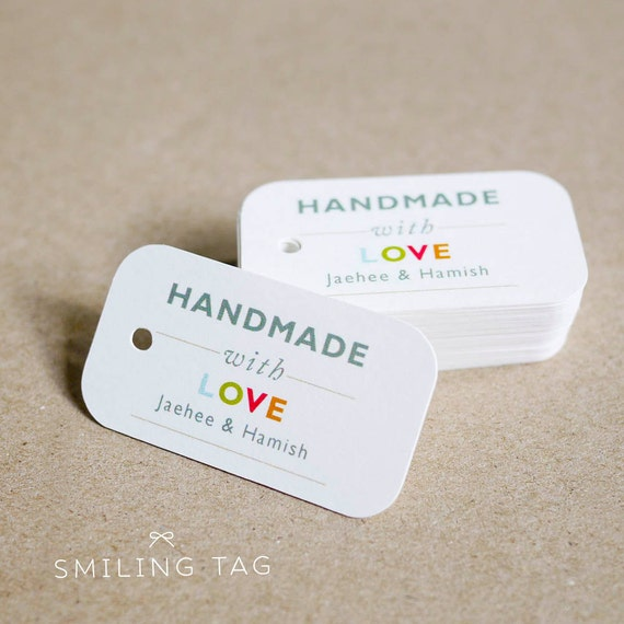 Custom Gift Tags - Personalized Gift Tags - Custom Product Tags - Etsy Product Tags - Etsy Shop Labels - Set of 40 (Item code: J228)