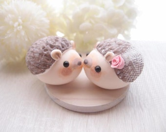 Love Wedding Cake Toppers - Hedgehog with base