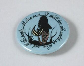 Love The World Mermaid 38mm badge