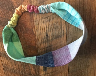 Wrap scrap handmade adult girasol headband.