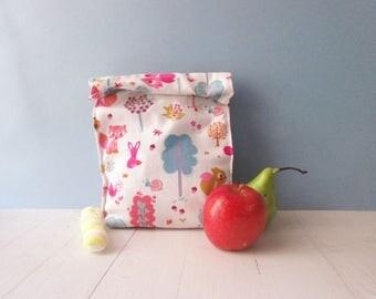 Floral patterned canvas, Sandwich bag, women bag, Canvas bag, market and shopping bag.
