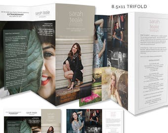 Photography Templates, Senior Tri-fold Marketing Brochure, Photoshop Template, Price Guide, Essentials Marketing, SMT204