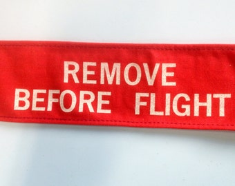 Vintage Military Aircraft Remove Before Flight Tag