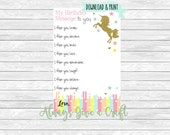 Pastel Rainbow Unicorn Time Capsule notecards Detailed, INSTANT download, printable cards