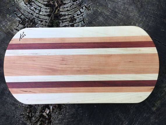 Cheese Board made from bloodwood, cherry and maple woods