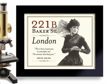 Sherlock Holmes, Irene Adler, 221B Baker Street, Sherlocked, Geekery, London England, Mystery Book, Sherlock Romance, Detective Art