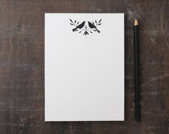 Illustrated Bird eco-friendly Notepad on Recycled Paper - (Large)