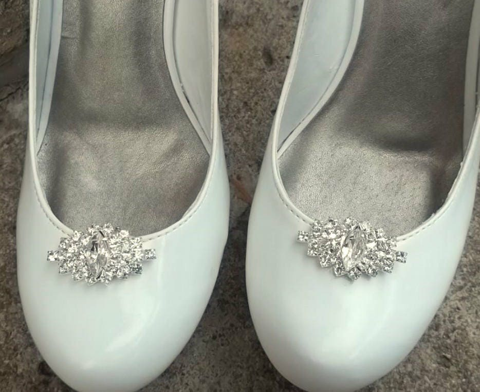 Wedding Heels With Rhinestones: Wedding Shoe Clips Bridal Shoe Clips Rhinestone Shoe Clips