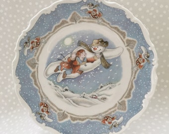 Royal Doulton Snowman Plate -- Walking in the Air -- The Snowman Gift Collection -- First in Series -- Bone China