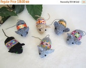 ON SALE - 10% OFF Set of Knitted toy animal Mice...Soft,safe.stuffed litty bitty mice... baby toy