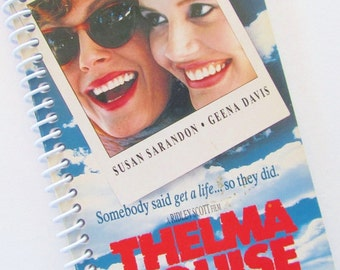Thelma and Louise Notebook Journal upcycled spiral notebook Recyled VHS box