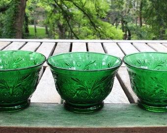 Green Anchor Hocking bowls