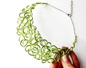 RESERVED for shannadady: lime collar necklace, IG clearance