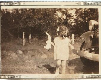 Little Miss Bunny Rabbit snapshot portrait vernacular photography found photo social realism