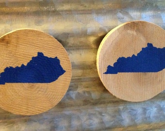 Wooden Kentucky Refrigerator Magnets, free shipping