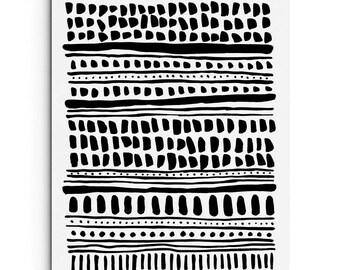 Art Print - Scandinavian Inspired Pattern - Modern Art - Wall Decor - Giclee Print