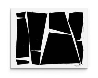 Modern Geometric Forms Print - Modern Art - Home Decor - Wall Art - 8 x 10 Linocut Block Print - 1-6010