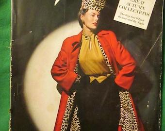 September 1942 Ladies VOGUE Fashion MAGAZINE
